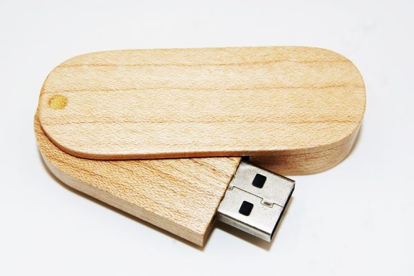 Wooden Swivel USB