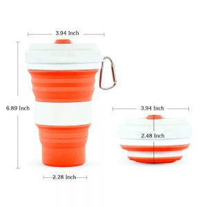 Collapsible Silicone Mug With Straw Set