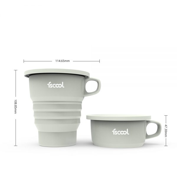 Collapsible Tri Fold Mug With Holder
